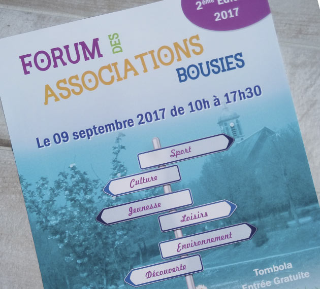 Affiche et flyers - Forum des Associations - Bousies