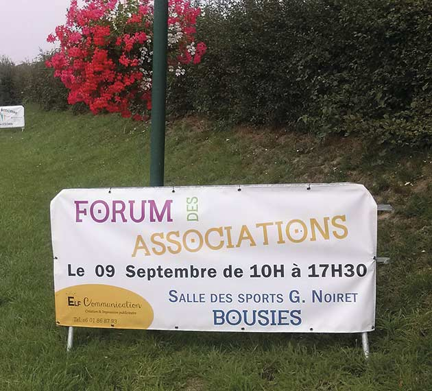 Bâche - Forum des Associations - Bousies