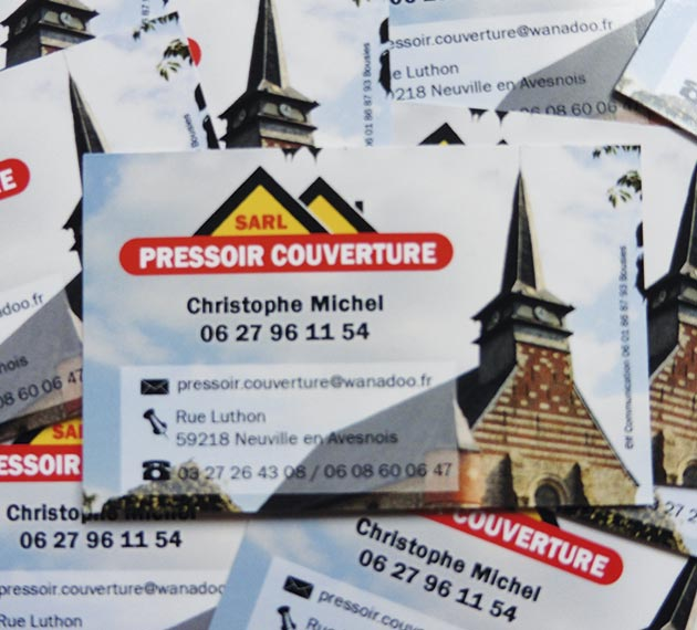 Cartes de visite - Pressoir Couverture